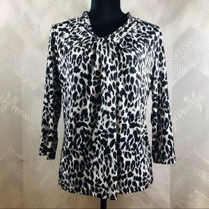 Women's Size Med JONES New York Black & White Top